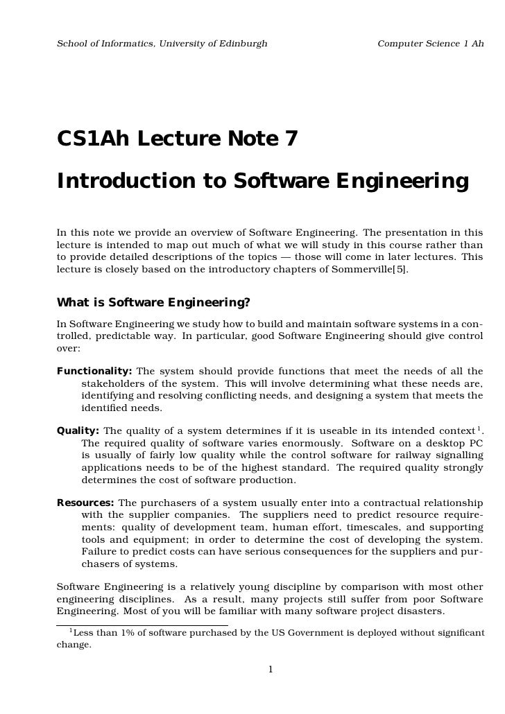 School of Informatics, University of Edinburgh                       Computer Science 1 AhCS1Ah Lecture Note 7Introduction...