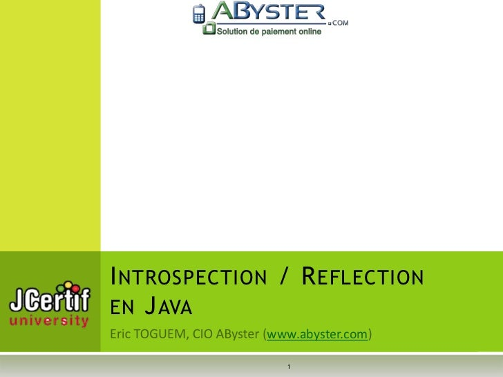 I NTROSPECTION / R EFLECTIONEN J AVA             www.abyster.com                1