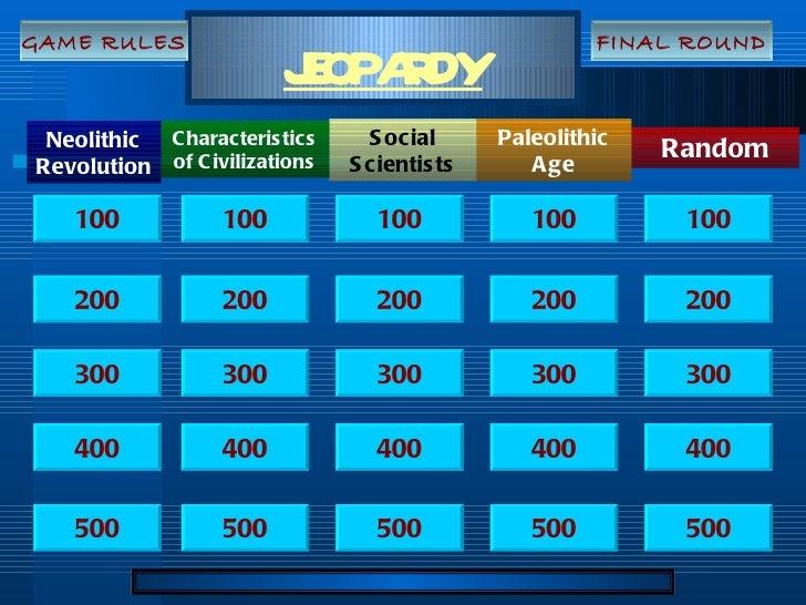 Intro test jeopardy game