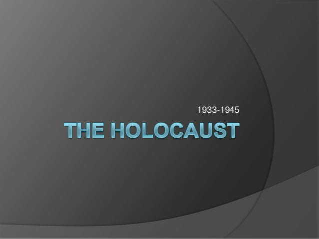 Intro the holocaust