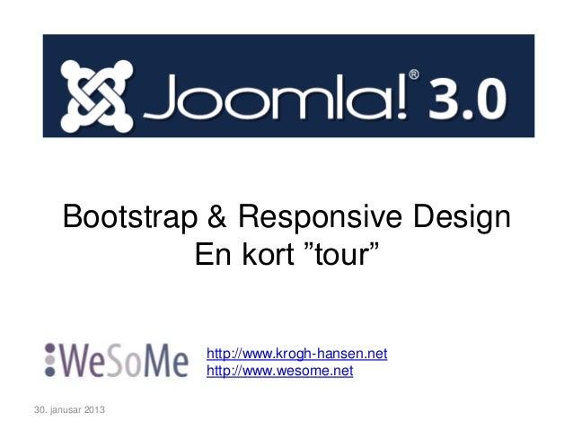 Intro til Joomla 3.0, Bootstrap og Responsive Design