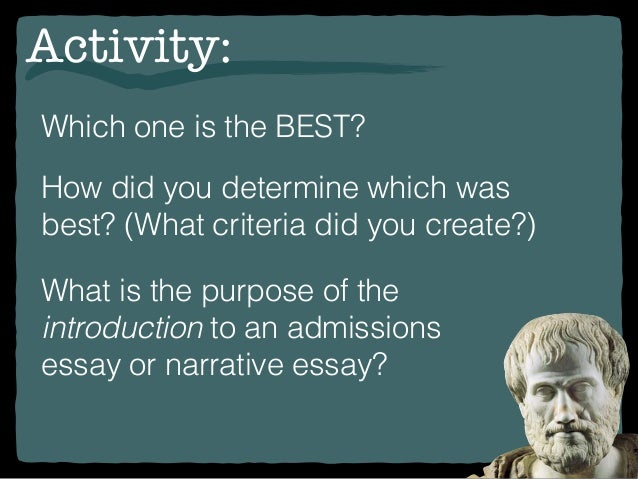 How do I write a Narrative Essay Introduction?