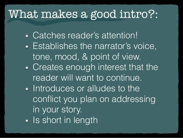 Narrative essay introduction