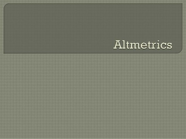 Intro to altmetrics