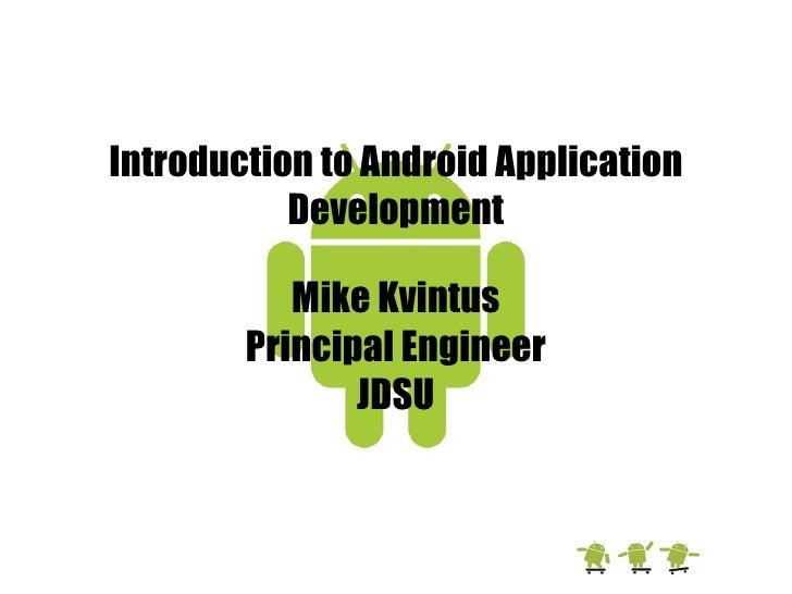 Intro To Android App Development