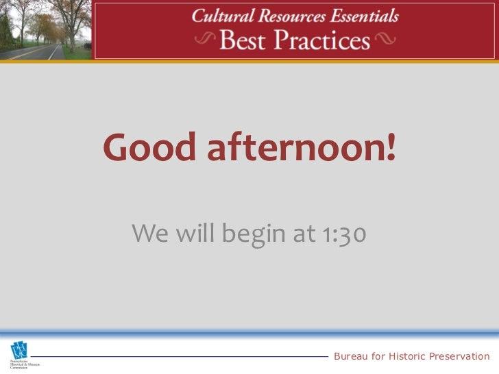 Intro to Best Practices