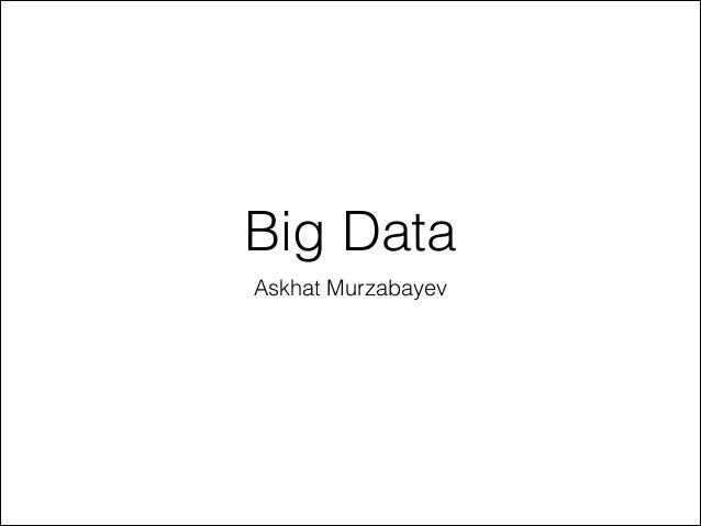 Intro to big data   choco devday - 23-01-2014