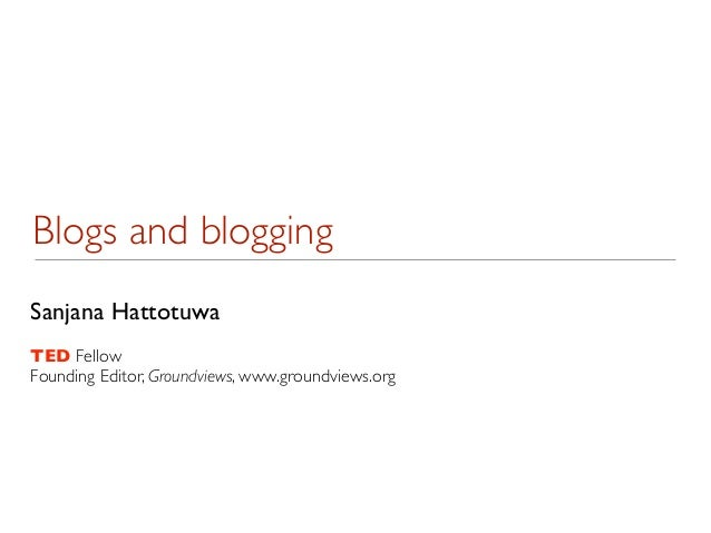 Introduction to blogs and blogging