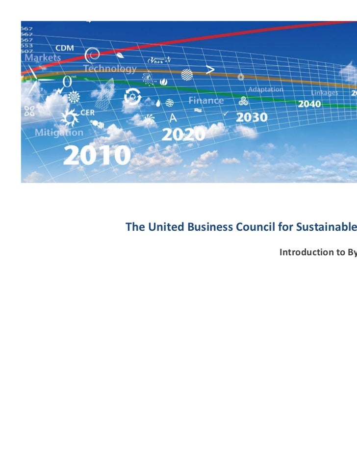 The United Business Council for Sustainable Development                           Introduction to By‐Product Synergy      ...