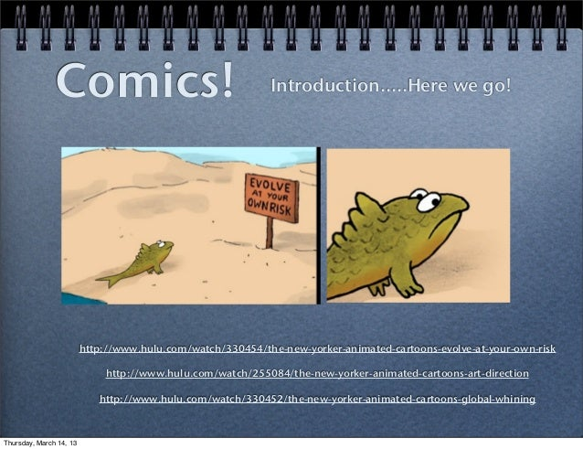 Intro to comics slideshow pdf