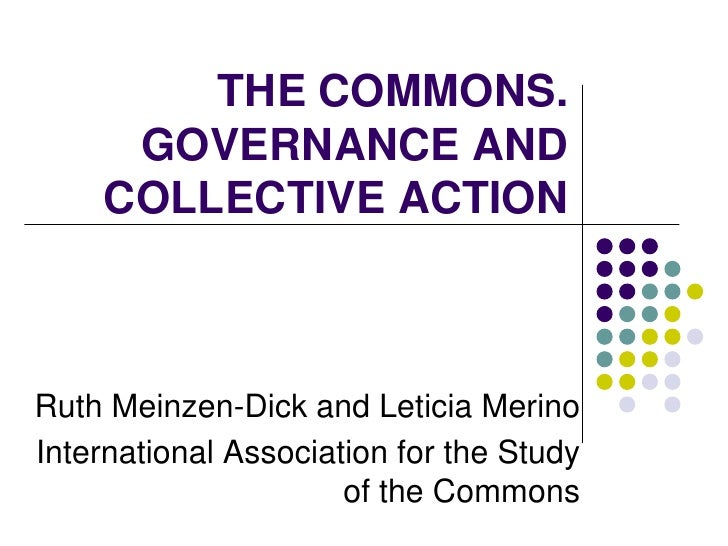 THE COMMONS. GOVERNANCE AND COLLECTIVE ACTION<br />Ruth Meinzen-Dick and Leticia Merino<br />International Association for...