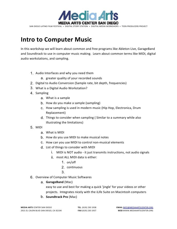 Intro To Computer Music