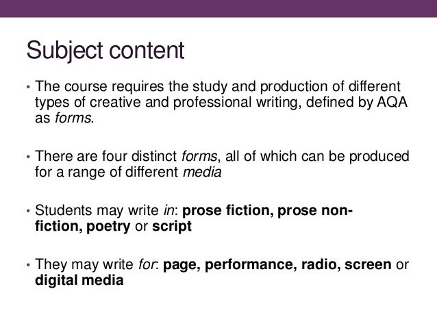 Aqa creative writing