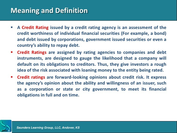 Intro to credit rating agencies for Bureau definition