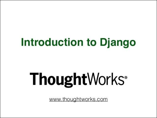 Introduction to Django (GDays 2014)