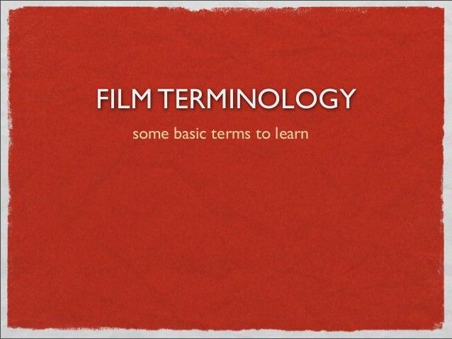 Intro to film language