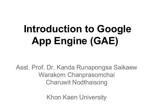 Introduction to Google App Engine