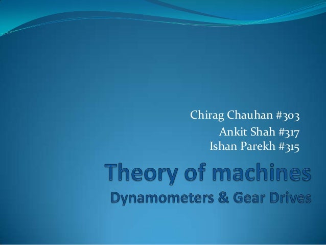 Introduction to Gears & Dynamometers (Theory of Machines)