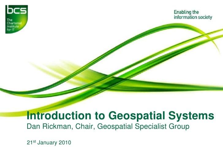 Intro To Geospatial