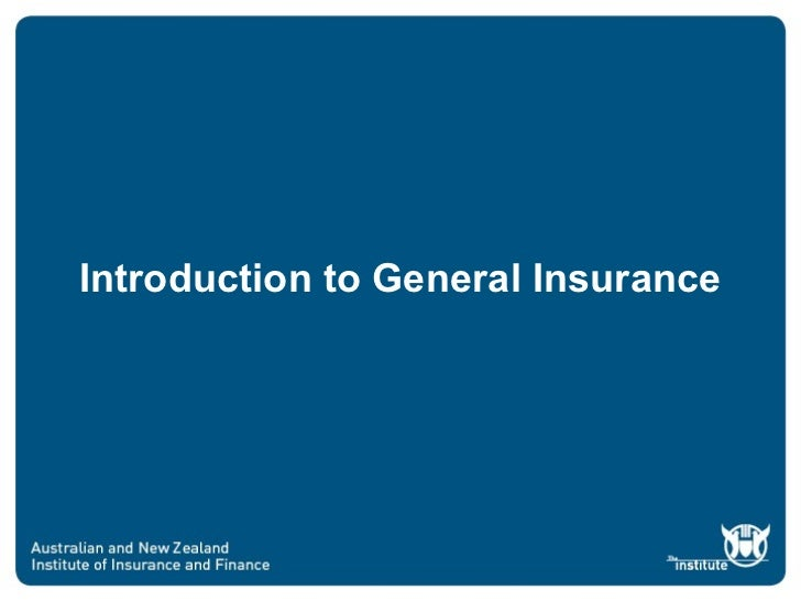 Introduction to General Insurance