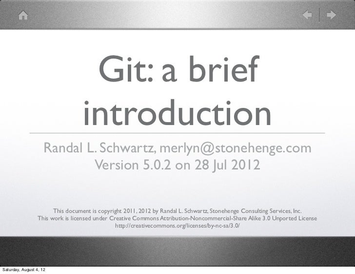 Intro to git (one hour version)