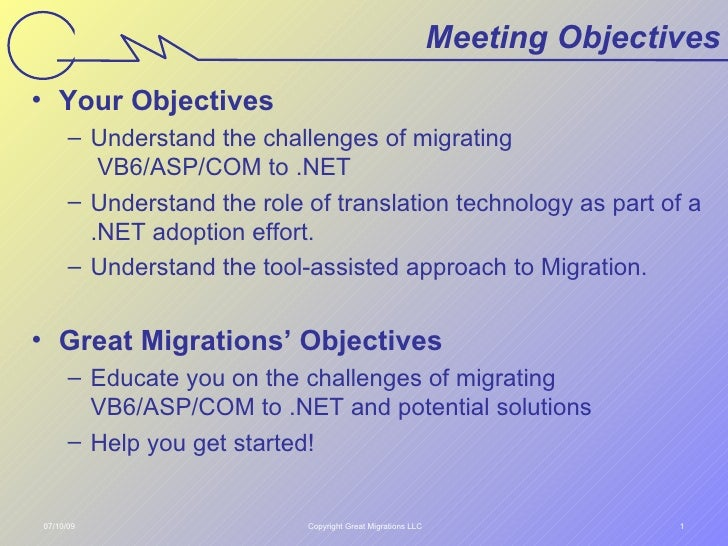 Intro To Great Migrations Technology