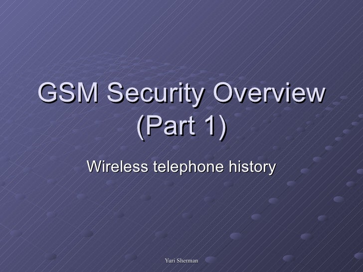 Intro to gsm