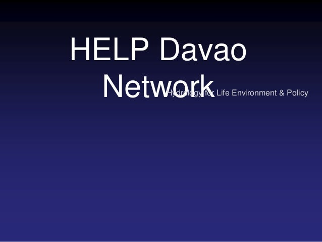 HELP Davao NetworkHydrology for Life Environment & Policy