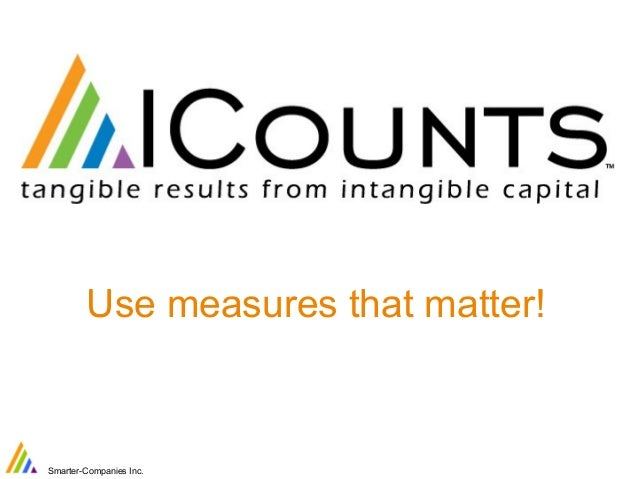 Use measures that matter!  Smarter-Companies Inc.