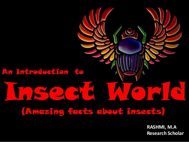 An Introduction to  Insect World (Amazing facts about insects)  RASHMI, M.A Research Scholar