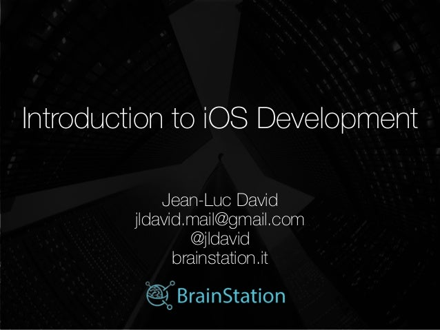 Introduction to iOS development