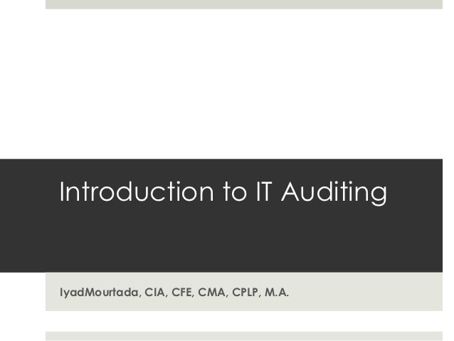 Intro to IT Auditing
