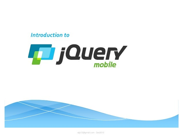 Introduction to jQuery Mobile