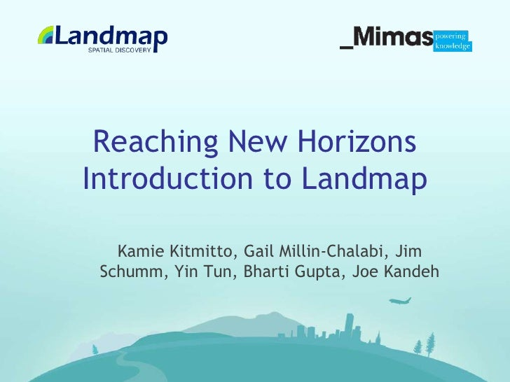 Introduction to Landmap - the geo-spatial service