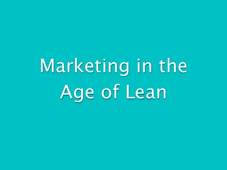 Intro to lean marketing