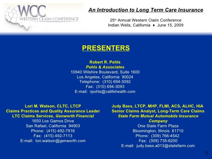 Intro To Long Term Care Insurance