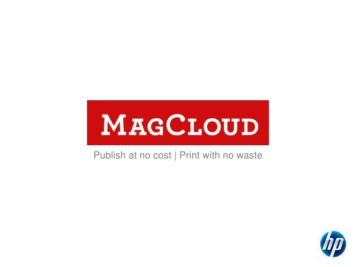 What is HP's MagCloud?