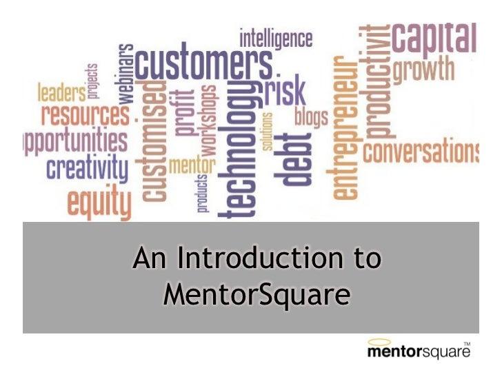 An Introduction To MentorSquare Advisors