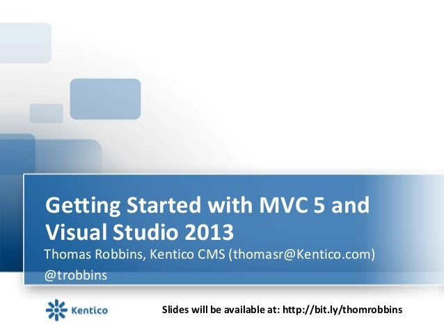 Getting started with MVC 5 and Visual Studio 2013