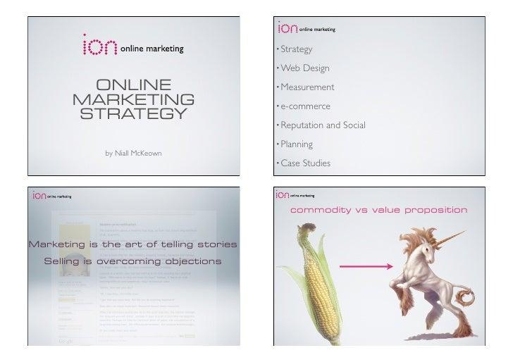 • Strategy                                            • Web    Design          ONLINE                           • Measurem...