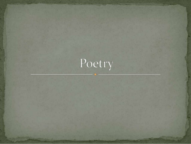 Intro to poetry (Rev.)