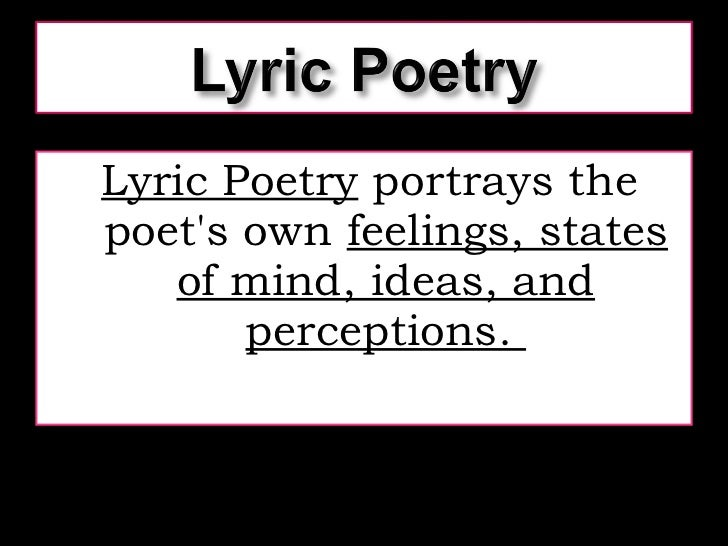 Are lyrics poetry?
