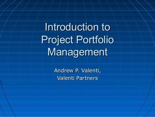 Introtoportfoliomanagement1 1276967502489-phpapp01