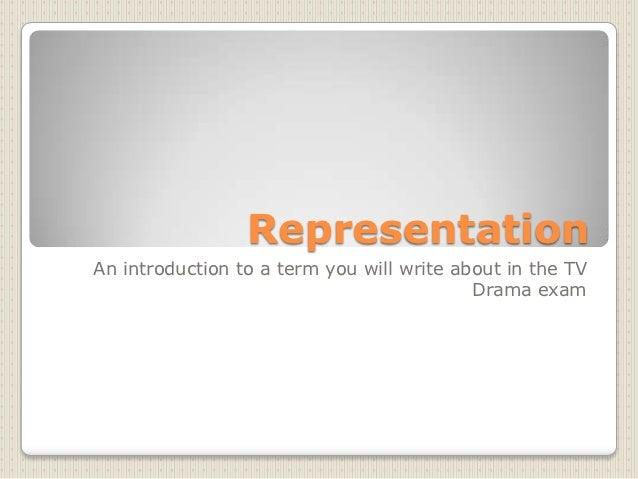 Intro to representation
