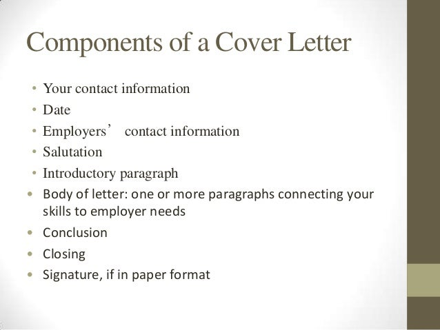 how to write a good cover letter for resume