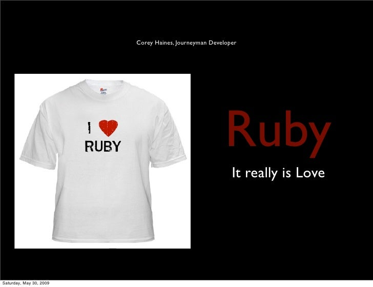 Corey Haines, Journeyman Developer                                                            Ruby                        ...