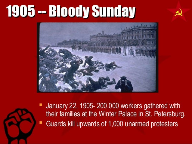 an introduction to the bloody sunday in russia Bloody sunday is the name given to the events of sunday, 22 january, 1905 in st petersburg, russia, where unarmed demonstrators led by father georgy gapon were fired upon by soldiers of the imperial guard as they marched towards the winter palace to present a petition to tsar nicholas ii of russia.