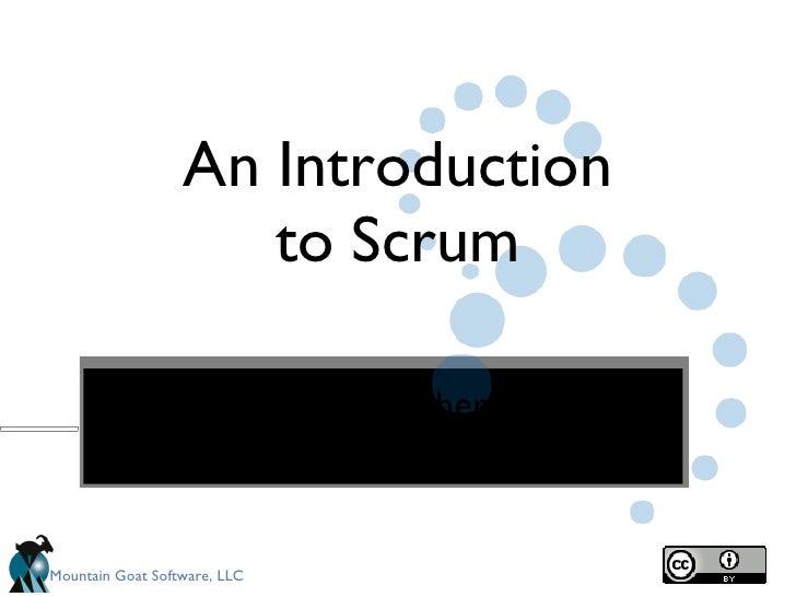 Intro To Scrum