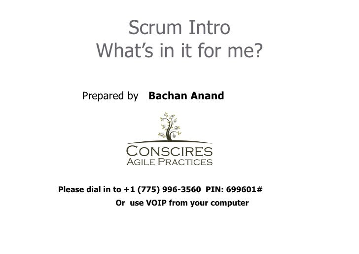 Intro to scrum   bachan anand