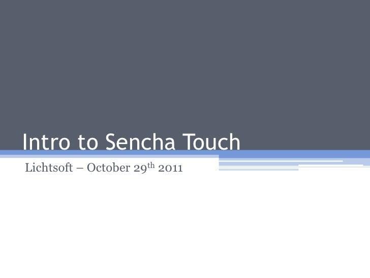 Intro to sencha touch